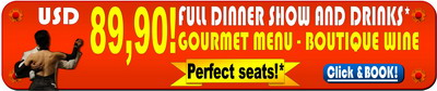 Tickets for El Querandi Tango show gourmet dinner best price 89