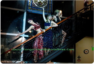 Dancers at Tango Dinner Show in Buenos Aires Complejo Tango