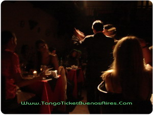 Singers between public at Tango Dinner Show in Buenos Aires Complejo Tango