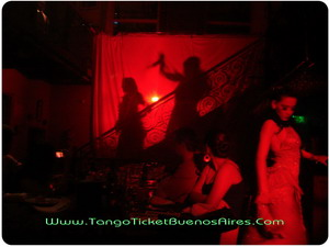 Dancers coming to the stage at Tango Dinner Show in Buenos Aires Complejo Tango