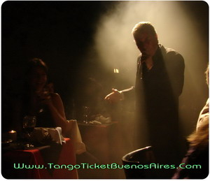 Singer between pubic at Tango Dinner Show in Buenos Aires Complejo Tango