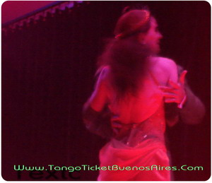 Sensual couple at Tango Dinner Show in Buenos Aires Complejo Tango