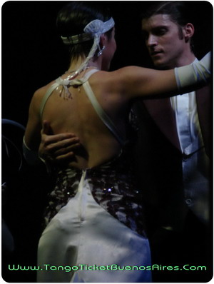 Sensual Couple at Viejo Almacen Tango Dinner Show in Buenos Aires