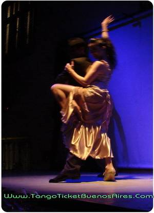 Couple at Tango Dinner Show in Buenos Aires Complejo Tango