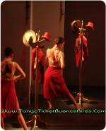 red hot dancers at Tango Dinner Show in Buenos Aires Cafe de los Angelitos