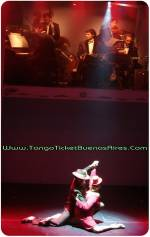 beautiful lady dancing at Tango Dinner Show in Buenos Aires Cafe de los Angelitos